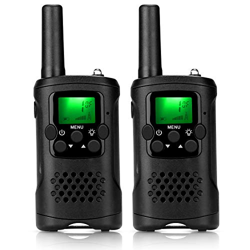 ieGeek Walkie Talkies for Kids, Toys for 3-12 Year Old Boys 22 Channel 2 Way Radio 3 Miles Long Range Handheld Battery Powered Walkie Talky with Flashlight Best Children's Day Gift (Black)