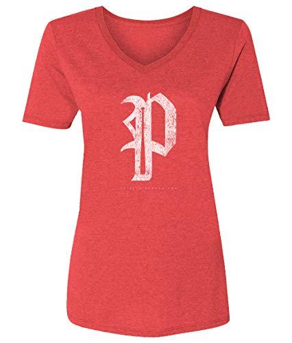 36 and Oh! Philadelphia P Baseball Shirt Womens Philly Vintage - Soft Style V-Neck