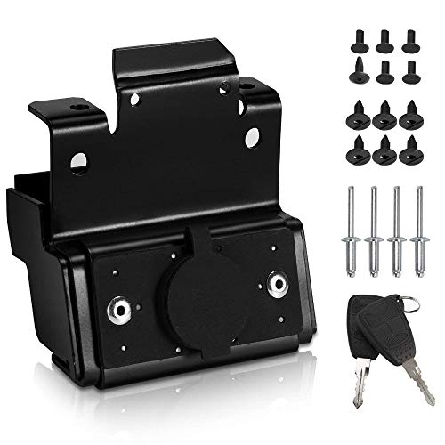 TOOGOO Hood Lock For Jk Unlimited 2007-2017 Front Engine Compartment Hood Cover Lock Kit Anti Theft Grille Lock With Key: