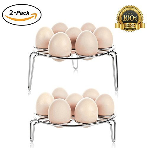 KLIOLO Egg Steamer Hard Boiled Stand Rack for Instant Pot and Pressure Cooker Stainless Steel 2 Packs