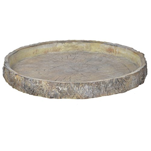 A&B Home D1611 Faux Wood Cement Plate, Large, 15'' by A&B Home (Image #1)