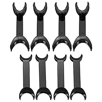 Dental Double Head Mouth Opener T-Shape Black Intraoral Cheek Lip Retractor Opener Dental Orthodontic Tool Surgical Retractor 8 Pcs