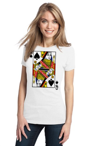 QUEEN OF SPADES Ladies' T-shirt / Card Costume Tee Shirt, Magic Trick Tee