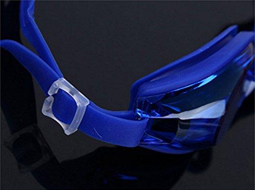 a PC Gafas de Transparentes natación Impermeable de a Prueba Silicona de explosiones Prueba Niebla Azul WZvzq