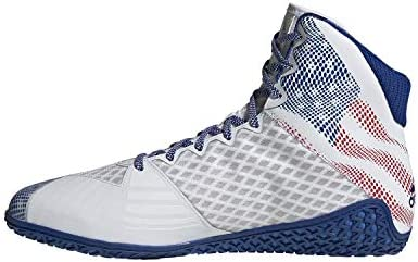 adidas Mat Wizard Hype White/Royal/Red Wrestling Shoes (EF1475)