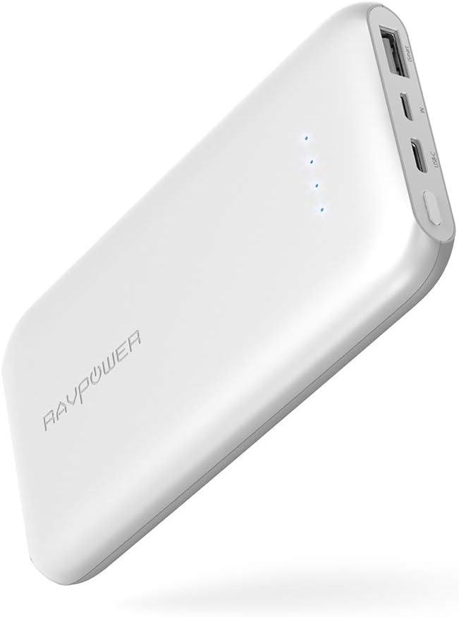 RAVPower - Cargador portátil USB C 10000 mAh, Ultrafino 10000 Cargador de teléfono con Puerto Tipo C de 5 V/3 A para Nintendo Switch, Galaxy S8, Google Pixel 2, iPhone, iPad y más: Amazon.es: Electrónica