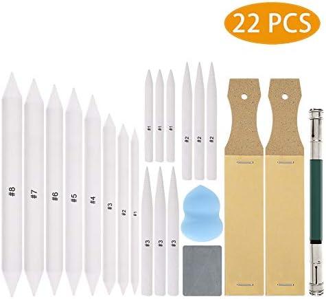 White Sperrins 6pcs Blending Stumps and Tortillons Set Colored Pencils Art Blenders Sticks for Drawing for Art Drawing Artist DIY Sketch
