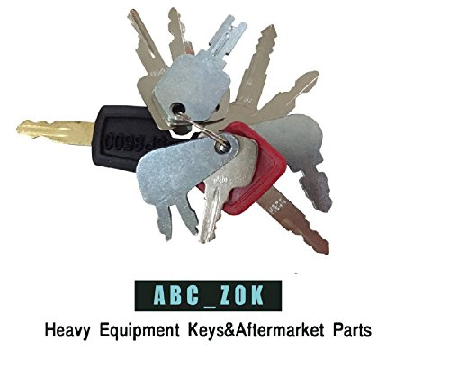 10 Keys Heavy Equipment / Construction Key Set John Deere, Fiat, Case, New Holland, Hitachi,Bobcat,Caterpiller more from abc_zok