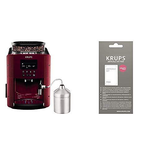 Krups Compact Cappucino EA816570 – Cafetera Superautomática 15 Bares, Pantalla LCD, 3 Niveles Intensidad de 20 ml a 220…