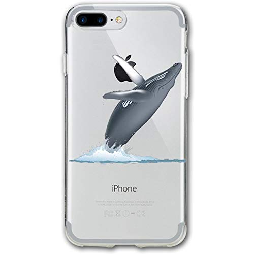 TPSXXY-8 California Monterey Bay Whale Phone Shell Shock Absorption Bumper Case Enhanced Grip Protective Defender Cover for iPhone 7/8 Plus