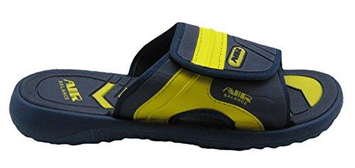 Luft Justerbar Rem Bekväm Dusch Strand Sandal Tofflor I Stilrena Färger För Män Blå / Gul