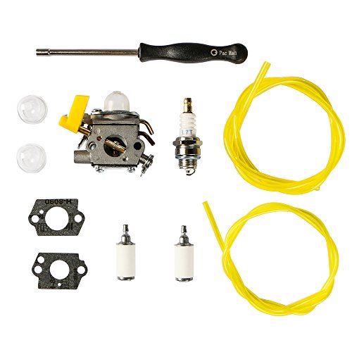 Outgoings 308054034 308054014 308054028 Carburetor with Adjustment Tool Fuel Line Turn up Kit for ZAMA C1U-H60D C1U-H60E RY09053 RY09055 RY09056 RY08554 RY09907 Leaf Blower Vacuum Carb Kit by Outgoings