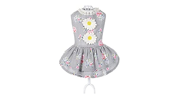 DishyKooker Falda de Verano con patrón de Girasoles para Mascotas ...