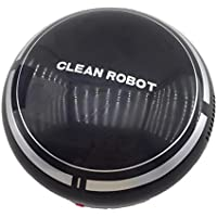 MM&I Automatic Smart Home or Office Robot Vacuum Floor Cleaner,Intelligent Household Sweeper for Pet Hair/dirt/Daily Dust Removal,Powerful Suction Robot (Black)