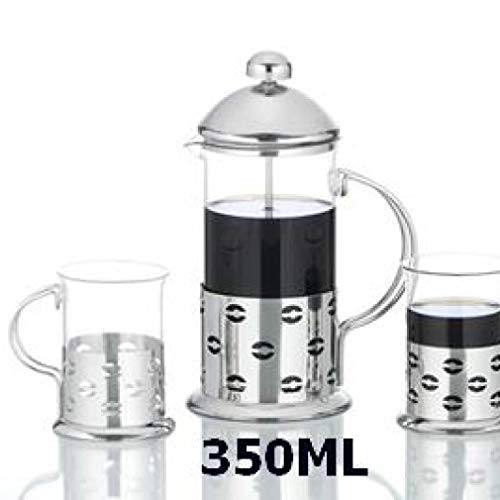 3 Pcs/Set Stainless Steel Glass Teapot Cafetiere French Coffee Tea Percolator Filter Press Plunger Manual Coffee Espresso - Teapot Glass La Cafetiere