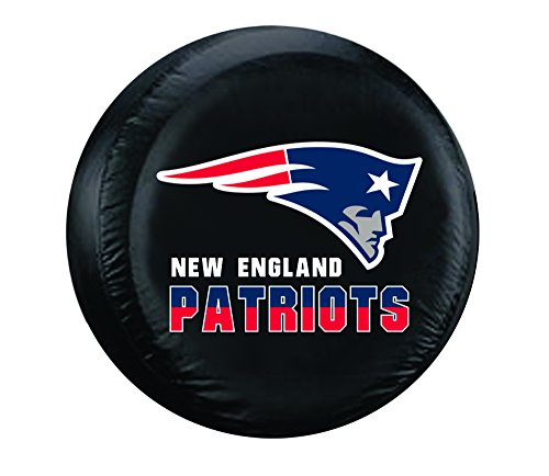 NFL New England Patriots Tire Cover, Black, Large