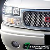 yukon denali fog lights xenon - Topline Autopart 6000K Hid Xenon Black DRL Led Head Lights Lamps Amber Aw 99-06 07 Gmc Sierra / 00-06 Yukon XL Denali