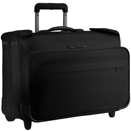 Briggs & Riley Carry-On Wheeled Garment Bag,Black,14x21x8.5 by Briggs & Riley