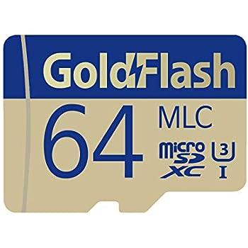 GoldFlash MLC 128GB MicroSDXC UHS-I Card Adapter-95MB//s U3