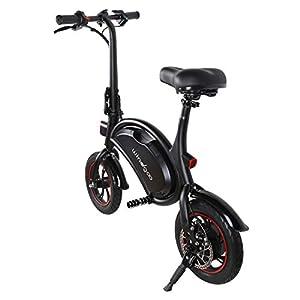 414zgERDswL. SS300 Windgoo Bicicletta Elettrica Pieghevole, Senza Pedali, Sedile Regolabile, Compatta Portatile, Potenza 350 W Batteria 36V 6,0 Ah, Autonomia 20km, velocità Massima 20 km/h