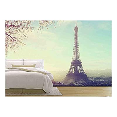 Marvelous Style, Aerial View of Paris Cityscape with Eiffel Tower at Sunset Vintage Colored Picture Business Love and Travel Concept, Made For You