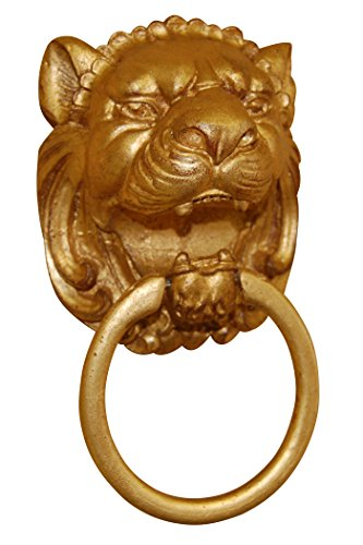 Hickory Manor House Lion Head Towel Holder, Gold Leaf