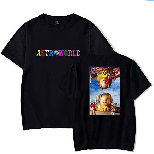 Travis In T shirt Popolare Stampa Personality Scott Album Jjzhy Theme Cotone 4 Rapper Astroworld FPq4wE1