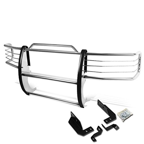 For Ford F150-F350 Pickup Front Bumper Protector Brush Grille Guard (Chrome)
