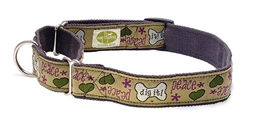 Earthdog Decorative 100% Hemp Martingale Collars - Fat Moe, (Hemp Martingale Dog Collars)