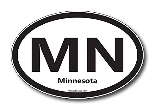 MN Minnesota Car Magnet US State Oval Refrigerator Locker SUV Heavy Duty Waterproof…