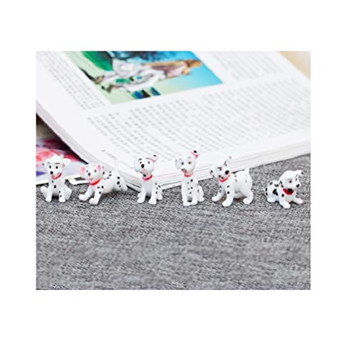 Doc&Good Inc. 6 Pcsset Cute Cartoon Spotty Dog Mini Action Figure Toys PVC Animal Dogs Model Lovely Landscape Decoration