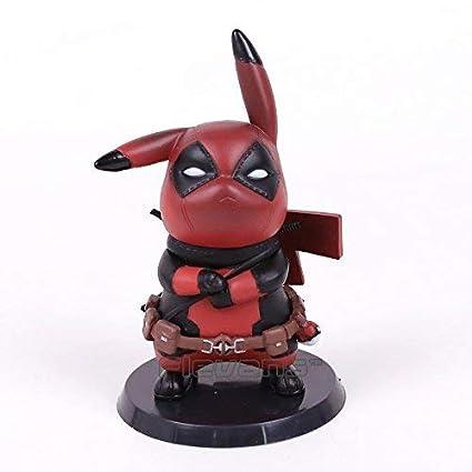 Amazon.com: FiraDesign Pika In Deadpool Cosplay - Figura de ...