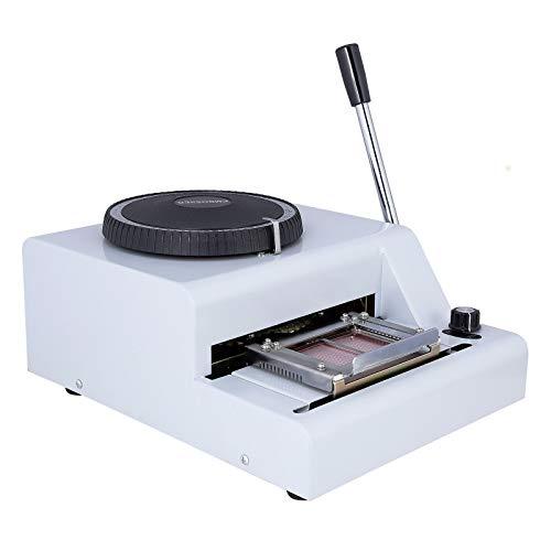 - 72 Character Card Embossing Machine Manual Embosser Stamping Machine for PVC Credit Bank VIP ID Membership Gift Card