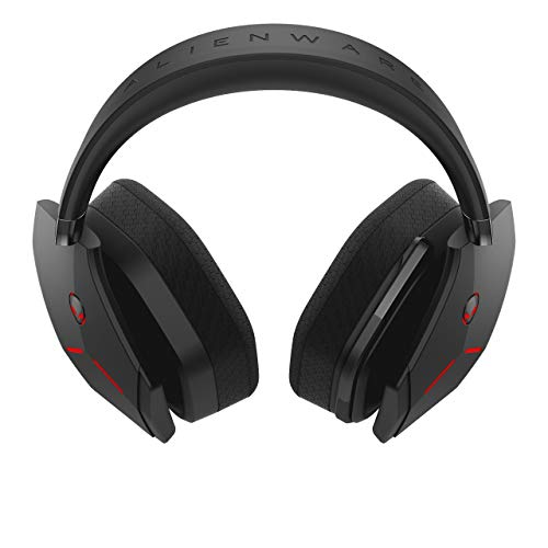Alienware Wireless Gaming Headset - AW988; Gaming Headset Designed for The Most Dedicated Audiophile. Lightweight Design with Crystal-Clear Communication and Iconic Alienware Style