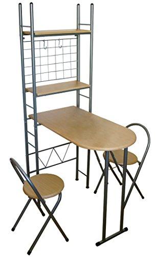 KMH®, Praktisches Küchenset mit einklappbarem Tisch und 2 Klappstühlen (#204702)