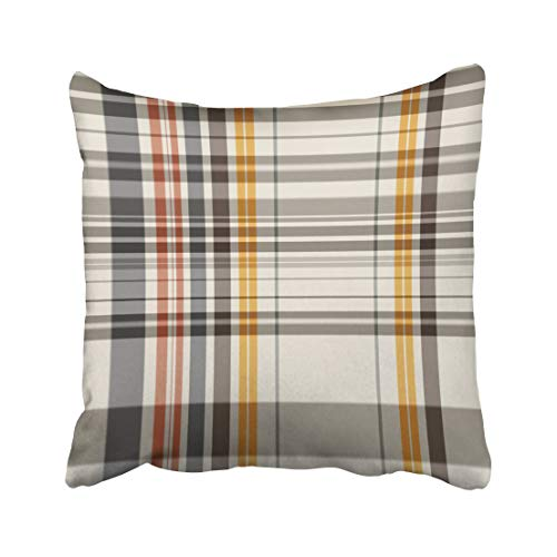 Emvency Checkered Abstract Colorful Check Plaid Tattersall Line Color Garment Geometric Gingham Throw Pillow Covers 20x20 Inch Decorative Cover Pillowcase Cases Case Two Side
