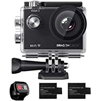 Dragon Touch 1080P WiFi Action Camera 30m Underwater...