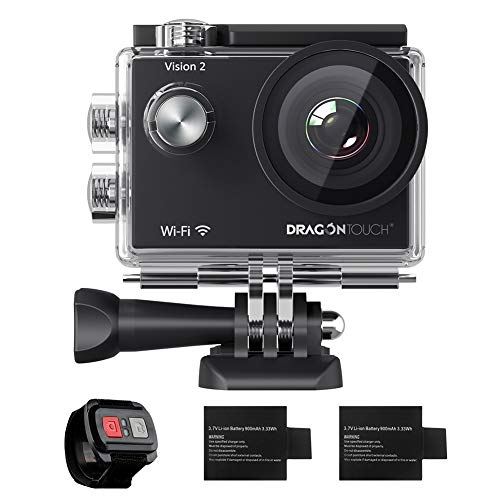 Dragon Touch 1080P WiFi Action Camera 30m Underwater Camera