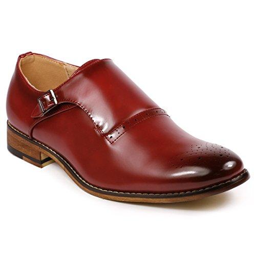 Image of Metrocharm MC112 Men's Monk Strap Slip-on Loafers Dress Shoe