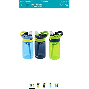 Contigo Kids Autospout Gizmo Water Bottles, 14oz (Nautical Blue/Navy Blue/Chartreuse)