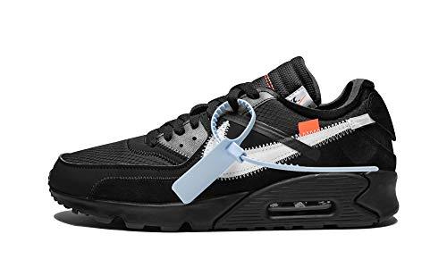 Nike The 10 Air Max 90 (Black/Black-Cone-White, 6) (Nike Air Max 90 Black And White Suede)