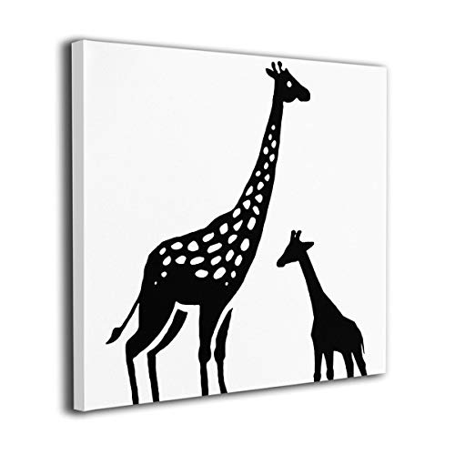 (customgogo Oil Paintings Wall Art On Canvas Poster Print Framed Giraffe Art Artic Painting Full Square Drill Home Decor for Kitchen Living Room Bedroom Decoration)