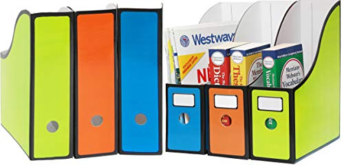 6 Pack - SimpleHouseware Classroom Magazine File Holder Organizer Box ()