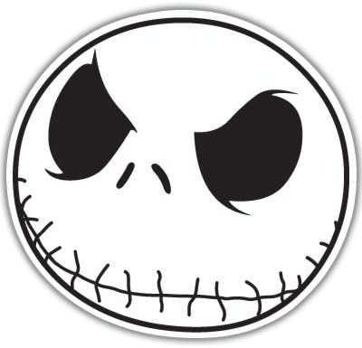 Jack Skellington Christmas Vynil Car Sticker Decal - Select Size