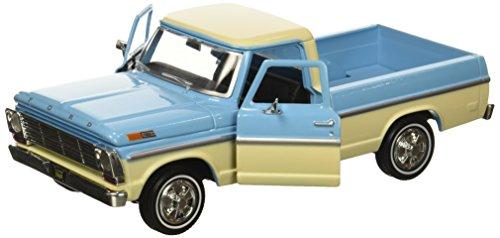 Motor Max 1:24 W/B American Classics 1969 Ford F-100 Pickup 2-Ton Diecast Vehicle, Light Blue