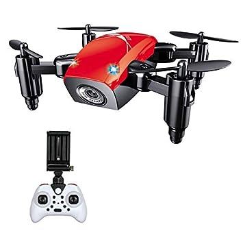 RCDNE Drone con WiFi FPV Una tecla de despegue/Aterrizaje Plegable ...