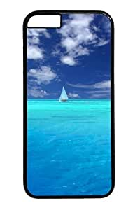 iphone 6plus 5.5 Case and Cover -Blue Paradise Custom PC Hard Case Cover for iphone 6plus 5.5 inch Black