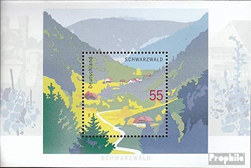 RFA Timbres pour les collectionneurs FR.Allemagne Bloc 68 compl/ète.Edition. Paysages cachet sp/écial de pr/émier jour 2006 for/êt-noire
