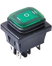 balikha 12 V 6 Pin On Off On Auto Boot Verlichte Rocker - Groen