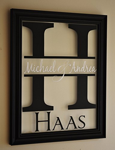 MRC Wood Products Personalized Family Name Sign Picture Frame 13x16 The Mitford]()